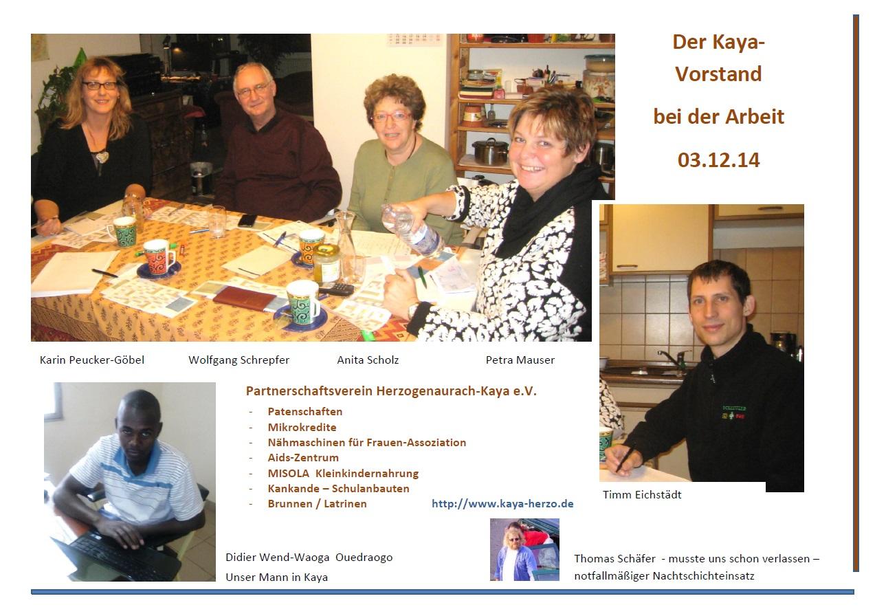 Der Kaya-Vorstand bei der Arbeit