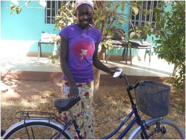 Ein Fahrrad für Hélène.