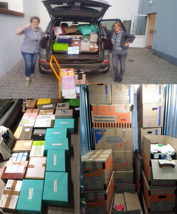 Container mit Spenden gut angekommen